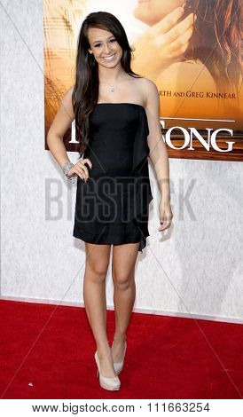 Caitlyn Taylor Love at the World Premiere of