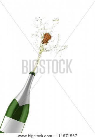 A Champagne bottle popping its cork
