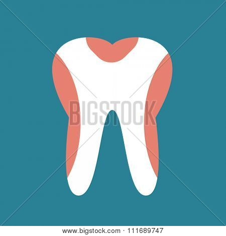 Periodontal disease tooth icon vector illustration. Dental tooth problems vector concept. Toothache, tooth dead, bad tooth care. Doctors dentists professional illustration. Medical dental tooth icon