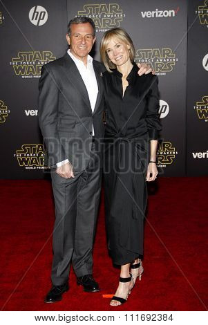 Bob Iger and Willow Bay at the World premiere of 'Star Wars: The Force Awakens' held at the TCL Chinese Theatre in Hollywood, USA on December 14, 2015.