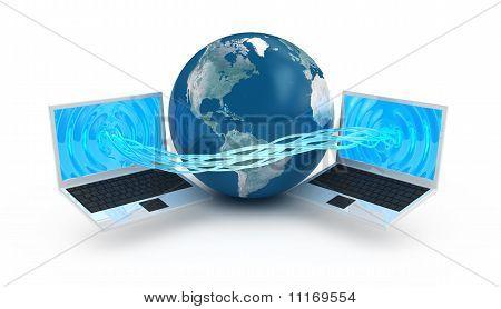 Internet globalization concept