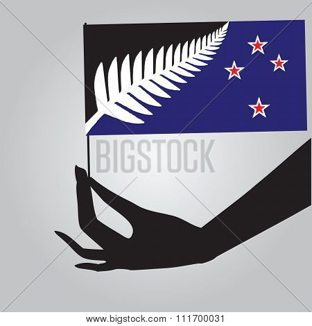 State Flag Of New Zealand