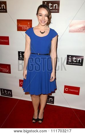 LOS ANGELES - DEC 10:  Caroline Barry at the A Christmas Star Premiere at the TCL Chinese 6 Theaters on December 10, 2015 in Los Angeles, CA