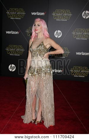 LOS ANGELES - DEC 14:  Bonnie McKee at the Star Wars: The Force Awakens World Premiere at the Hollywood & Highland on December 14, 2015 in Los Angeles, CA