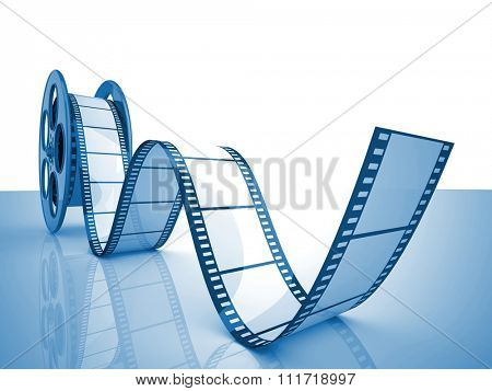 render of classic cinema film roll