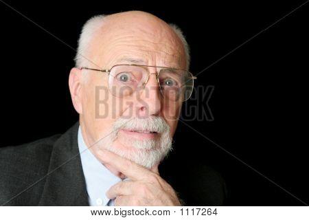 Stock Photo Of Worried Senior Man