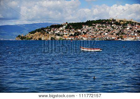 Fisher Boat On Lake Ohrid
