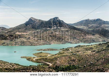 View Of Zahara - El Gastor Reservoir,