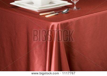 Raspberry Satin Table Cloth
