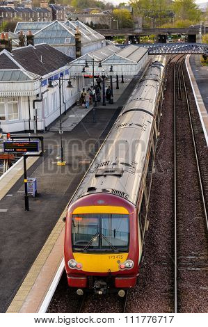 Commuter train at Stirling in Scotland