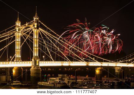 Fireworks Over Albert Bridge