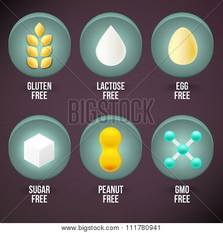 Set Of Food Dietary Labels