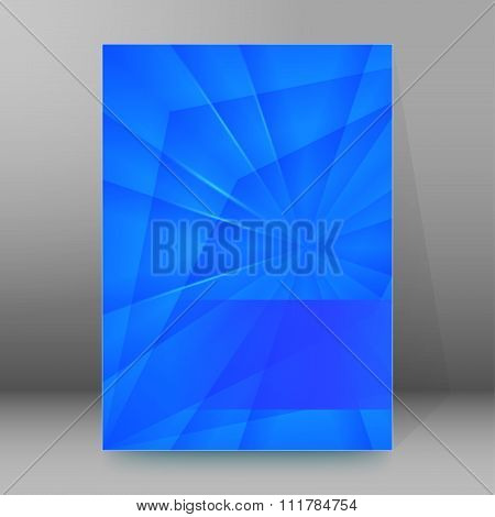 Blue Crystal Background Brochure Cover Page Layout