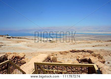 Judaean Desert, Masada ruin, Israel