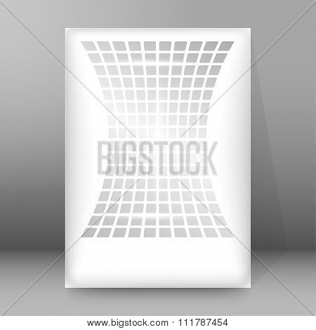 Concave Shapes Background Report Title Page Booklet
