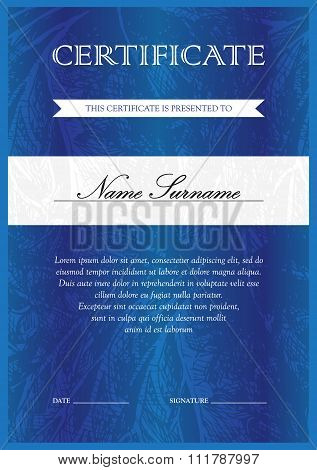 Certificate And Diploma Template