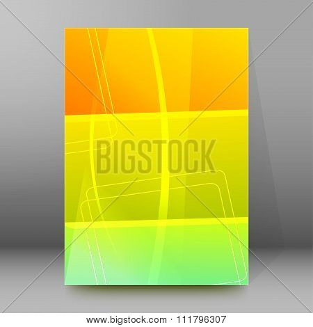 Glowing Sunny Background Brochure Cover Page Layout