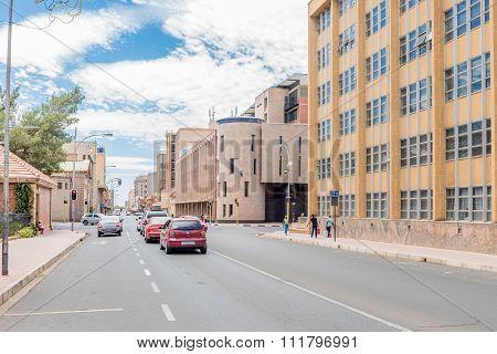 View Of Saint Andrews Street In Bloemfontein