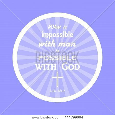 Bible verse All things are possible for God