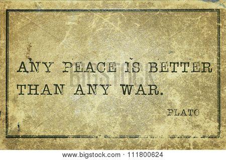 Any Peace Plato