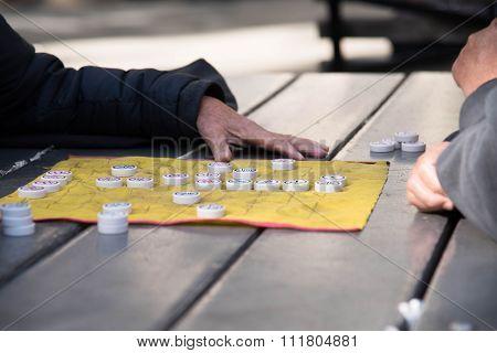 Chinese Mahjong Play