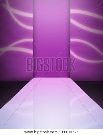 An empty catwalk