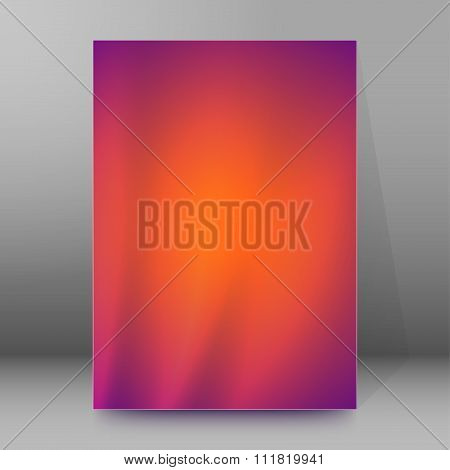 Purple Background Blur Brochure Cover Page Layout