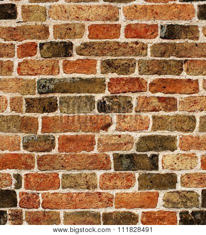 Seamless texture of old brick wall (tiling). Endless texture can be used for wallpaper, web page background, surface textures
