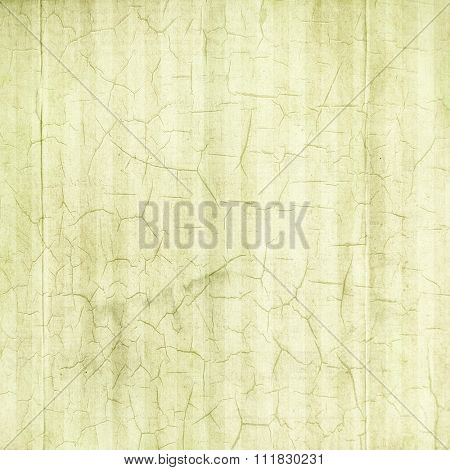 Antique Pale Green Cracked Linen Background