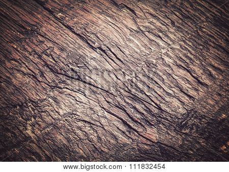 Old Gnarled Wooden Board