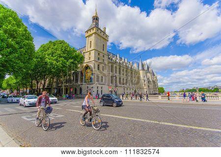 The Conciergerie, located in the Ile de la Cite, Paris, France