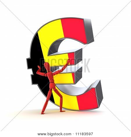 Keeping Up The Euro - Belgian Flag