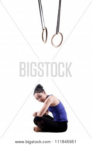 Girl With Gymnast Rings