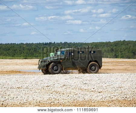 A military armored car
