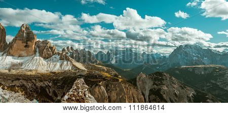 Alps mountains view