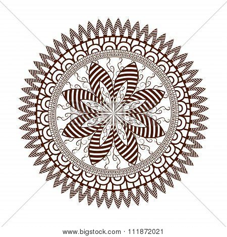 Round Floral Ornament Pattern