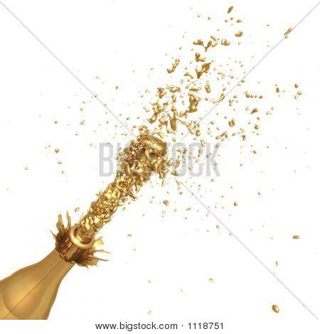 vergoldete champagne