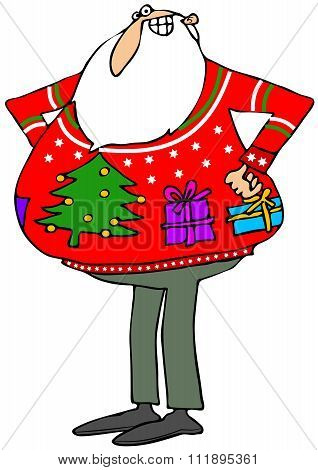 Santa'a ugly Christmas sweater