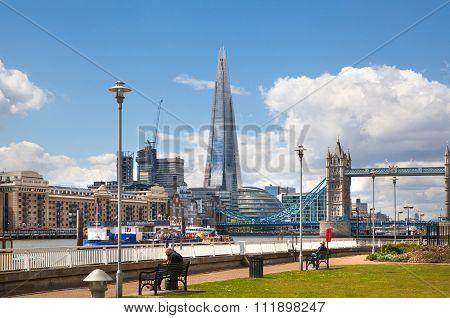 LONDON, UK - APRIL 30, 2015:  Shard of glass view