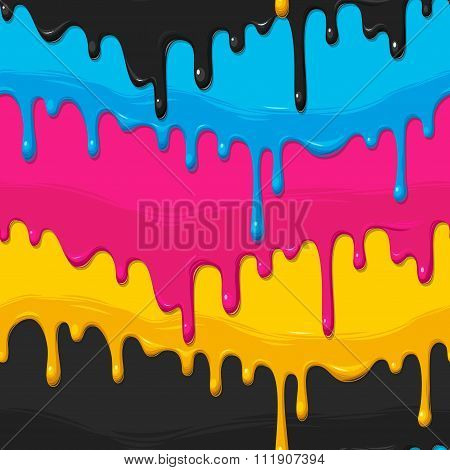 Dripping paint seamless