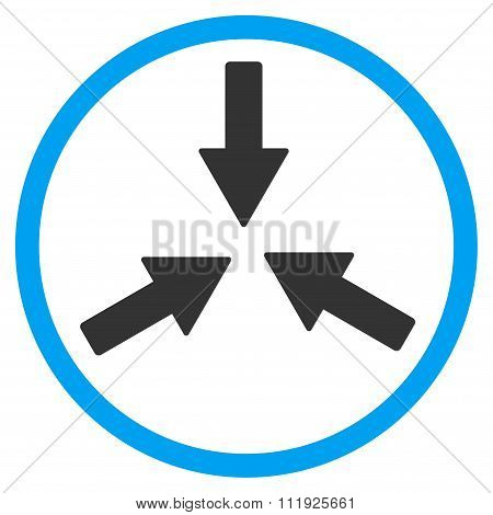 Collide Arrows Rounded Icon