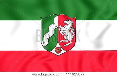 Flag Of North Rhine-westphalia, Germany.