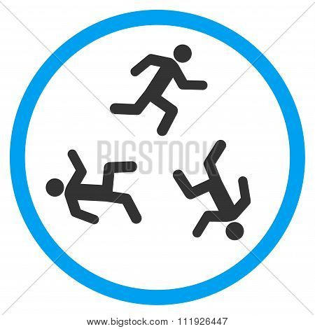 Running Men Rounded Icon
