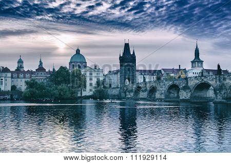Prague at sunrise