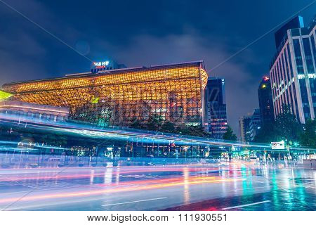 Seoul, South Korea - August 16, 2015: New City Hall Building Of Seoul Metropolitan Government Shot A