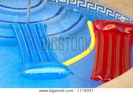 Inflatables On A Pool