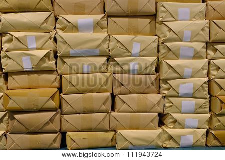 Pile Of Parcels For Delivery