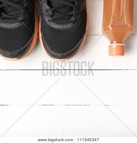 Running Shoes And Orange Juice