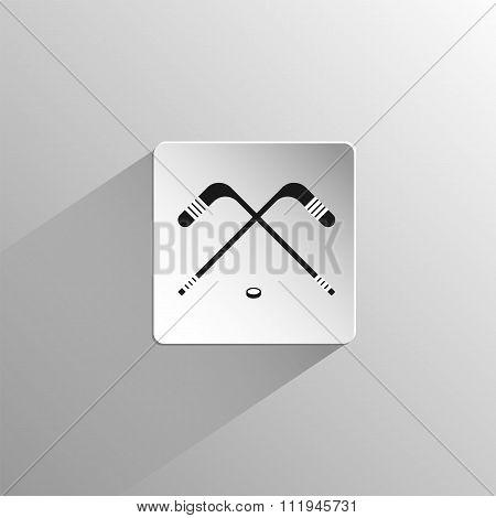 Hockey Black Flat Icon