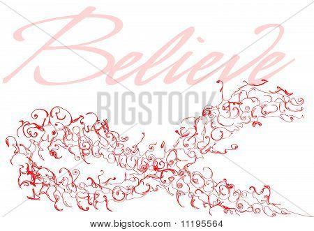 Red Awareness Ribbon